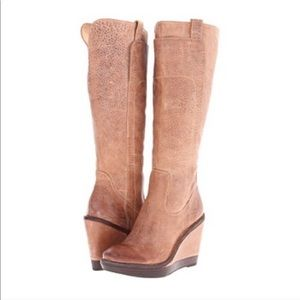 FRYE | Paige Wedge Boot X Stitch Vintage Tobacco